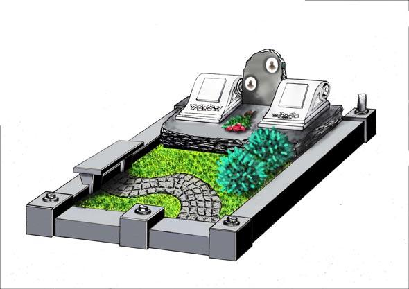 Памятник валун на могилу - 06-32