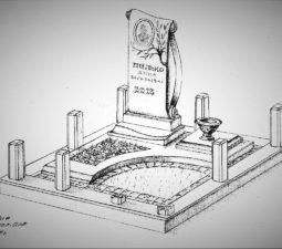 Памятник валун на могилу - 06