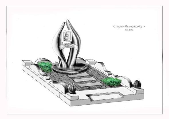 Памятник валун на могилу - 062