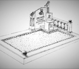 Памятник валун на могилу - 07