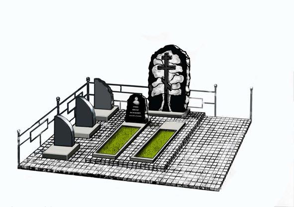 Памятник валун на могилу - 08-32