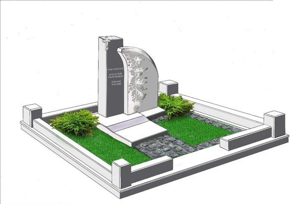 Памятник валун на могилу - 082