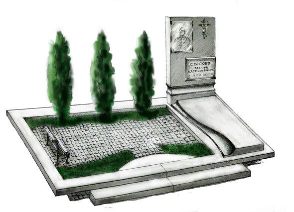 Памятник валун на могилу - 09-32
