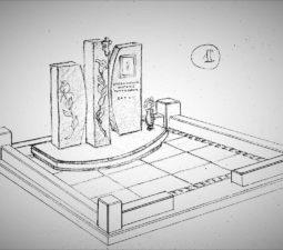 Памятник валун на могилу - 09