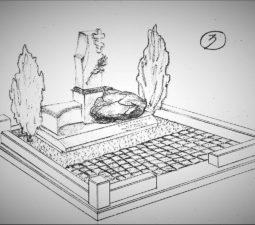 Памятник валун на могилу - 10