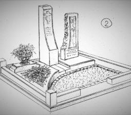 Памятник валун на могилу - 11