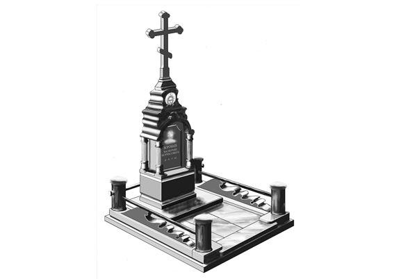 Памятник валун на могилу - 112