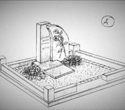 Памятник валун на могилу - 12