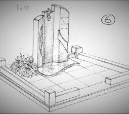 Памятник валун на могилу - 13