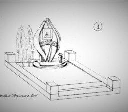 Памятник валун на могилу - 14