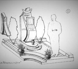 Памятник валун на могилу - 15