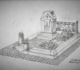 Памятник валун на могилу - 16
