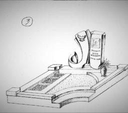 Памятник валун на могилу - 17