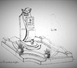 Памятник валун на могилу - 18
