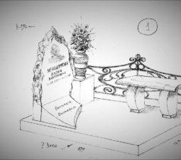 Памятник валун на могилу - 19