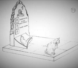 Памятник валун на могилу - 20