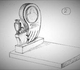 Памятник валун на могилу - 21