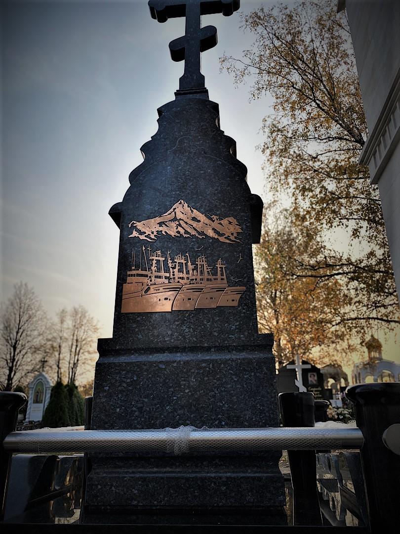 Накладка из нержавеющей стали на памятник - Мемориал Арт